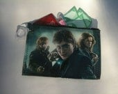 RESERVED LISTING - Harry Potter Zipper Pouch / Purse Organizer - Upcycled Awesome Fan Art :)