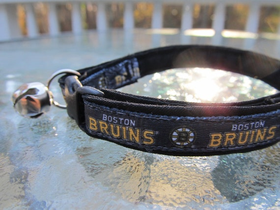 Bruins Black Dog Collar
