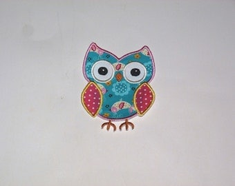 Embroidered Iron On Applique- Owl