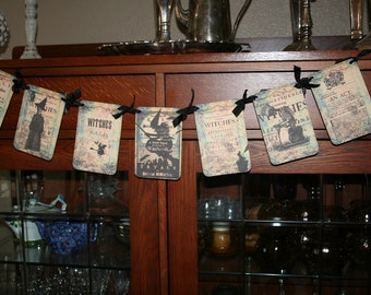 WITCH  Banner / Garland. Salem witches, witch trials