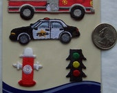 Store Closing - See shop announcement - Emergency Vehicles/Traffic - Wrights - Applique - NEW - Iron On - 4 pcs - YOU Pick 1 thru 19