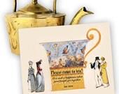 Tea Invitation - Jane Austen (set of 4)