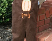 Boys Thanksgiving Pumpkin Longall Size 3mo to 4T