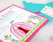 Girly Circus - Carnival Invitation