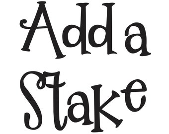"ADD-ON: 48"" Wood Stake for Custom Wedding Sign (X-002)"