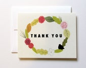 Floral Thank You Card (A2 size with matching envelope)