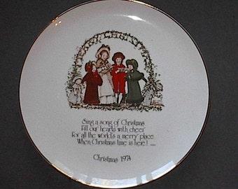 1974 Holly Hobby Christmas Plate