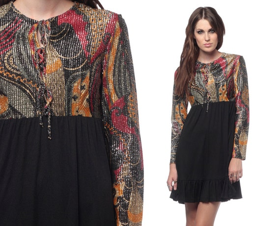 Long black hippie dress