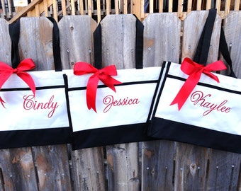 Personalized Bridesmaid Gift Tote Bag Personalized Tote, Bridesmaids Gift, Monogrammed Tote, Set of 7