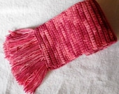 Shades of Pink Crochet Scarf