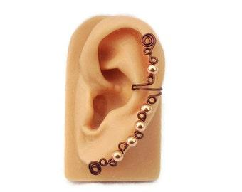 Ear Cuff Wine Copper