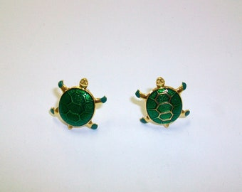 Vintage Turtle Earrings DEADSTOCK