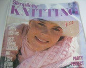 Vintage Book Simplicity Patterns for Knitting