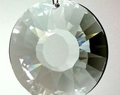 New 1-Sun Disc Chandelier Crystals Prisms - 30mm Sun Disc Disk 2- hole  (S-14)