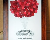 Wedding Guest Book Balloons Tandem Bike for up to 300 Guests