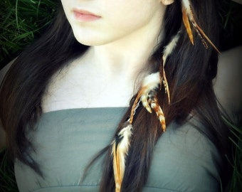 Custom Feather Hair Extension - Design Your Own Clip In Feather Extension - Custom Colors, Exta Long