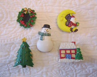Clip Holiday Button Covers set of 5