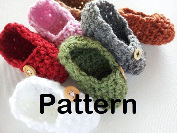 Easy Crochet Patterns For Newborn Booties : PATTERN Easy Crochet Baby Shoes by PoochieBaby on Etsy