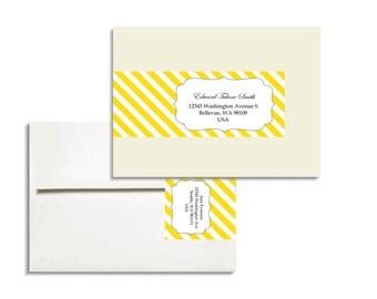 Envelope Wrap Printable Editable Diagonal Stripes PDF