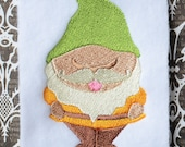 Gnome 3, INSTANT DIGITAL DOWNLOAD, Embroidery Design for Machine Embroidery 4x4