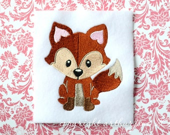 Fox Embroidery Design, INSTANT DIGITAL DOWNLOAD, Woodland Animals for Machine Embroidery 4x4