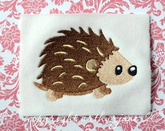 Porcupine Embroidery Design, INSTANT DIGITAL DOWNLOAD, Woodland Animals for Machine Embroidery 4x4