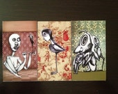 3 Illustrated Magnets