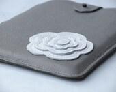 Leather iPad Case Sleeve CUSTOM  iPad Case Retro Floral Pattern Tablet Case