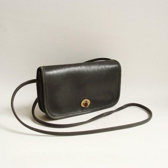 Coach bag / black leather Coach bag / Coach Leatherware made in USA / Coach cross body / vintage Coach
