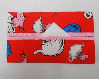 One Fish Two Fish Tissue Cozy/Gift Card Holder (pink lining)/Party Favor/Wedding Favor