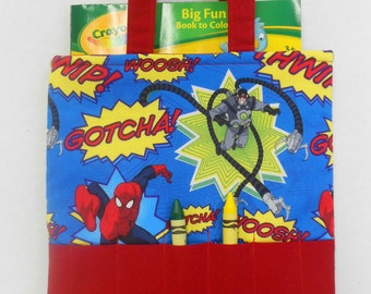 Spiderman Crayon Tote