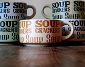 Groovy Soup n' Crackers Bowls Set of Five