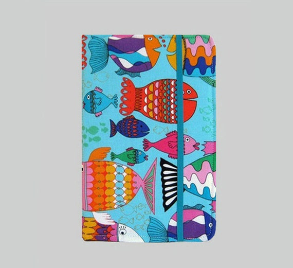 Kindle Cover Hardcover Kindle Case Nook Cover Nexus 7 Cover Nexus 7 Case Custom eReader Cover Happy Fish
