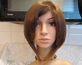 Very Light Brown, Short Straight, Angeled Bob Style, Deluxe Costume Wig, Synthetic, Cosplay