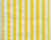 Set of 125 - Traditional Sweet Shop Yellow Candy Stripe Paper Bags - 5 x 7 New Style