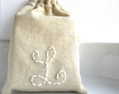Personalized  drawstring cotton pouches  Party favors, Bridesmaids jewelry gift, baby shower pouches Fabric gift bag