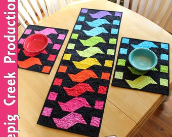Sparks Table Runner and Placemats Sewing Pattern