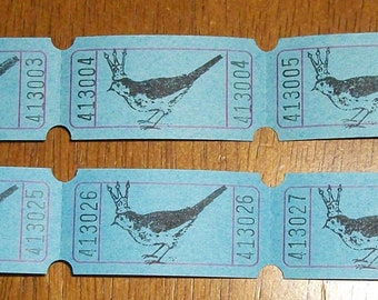 Bird With Crown Tickets For Your Crafting Needs