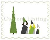 Adorable Customized Holiday Illustration/Design (Custom Listing)