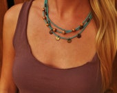 Turquoise Tri-Layered Boho Necklace