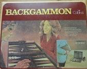Traveling Backgammon Game in Original Box  Airplane, Car, Train or Bus