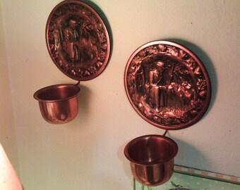 Vintage Copper Craft...Unique pair