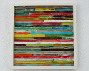 Wood Wall Art - Abstract Wood Art Distressed