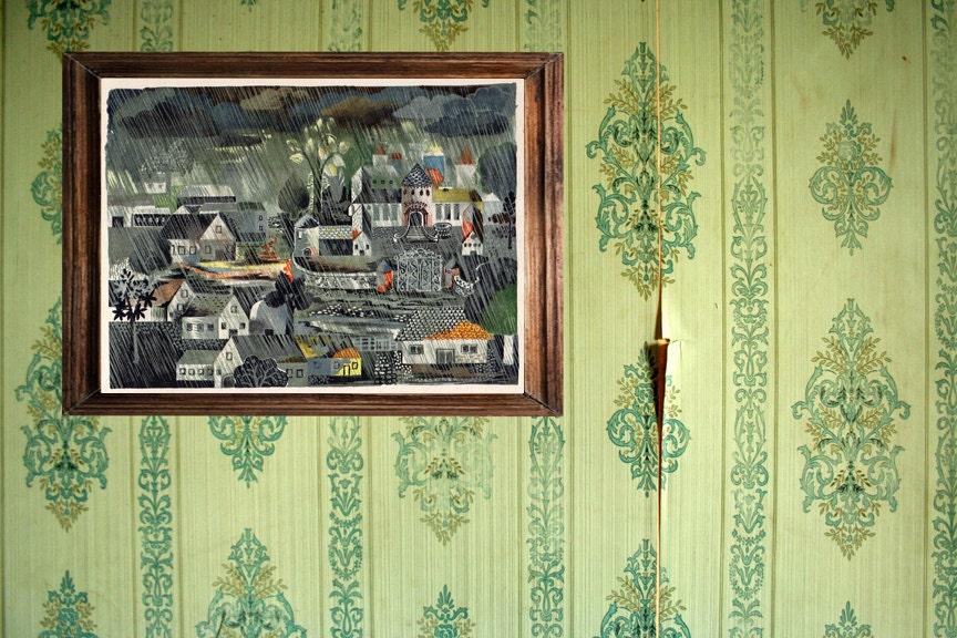 Dark German Fairy Tale Art Rainy Village By Missquitecontrary