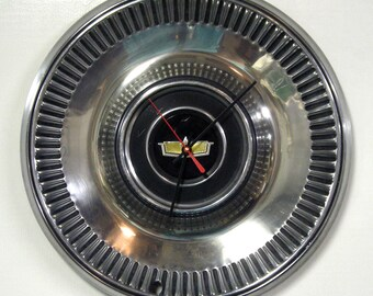 Chevy Wall Clock - 1973 Chevrolet Caprice Hubcap Clock
