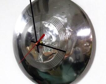 1930's Plymouth Hubcap Clock - Retro Car Hub Cap Wall Decor - Mopar - Father's Day Gift - Grandfather Gift