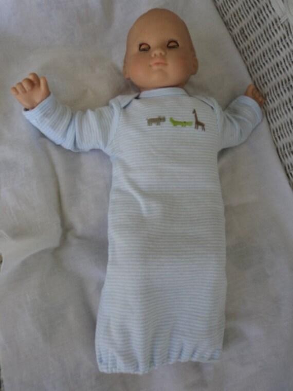 Bitty Baby Boy  one pc .Sleeper Gown