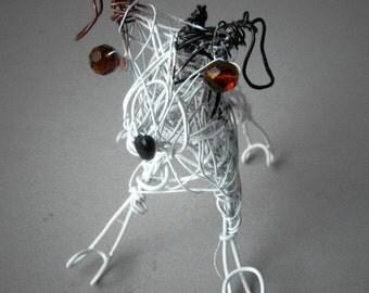 Pet Portrait Custom, Personalized Dog Memorial, Made to Order Pet Keepsake, Custom Decor,  Beloved Pet Dog Gift, Wire Sculpture,Dog Portrait