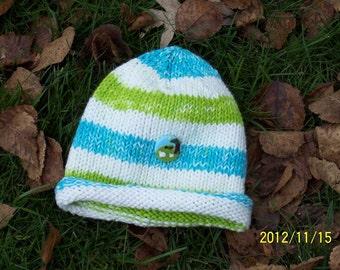 Little Lamb Newborn Beanie Rolled Brim Hat