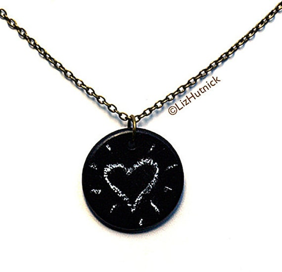 Chalkboard Necklace. Personalized Necklace.